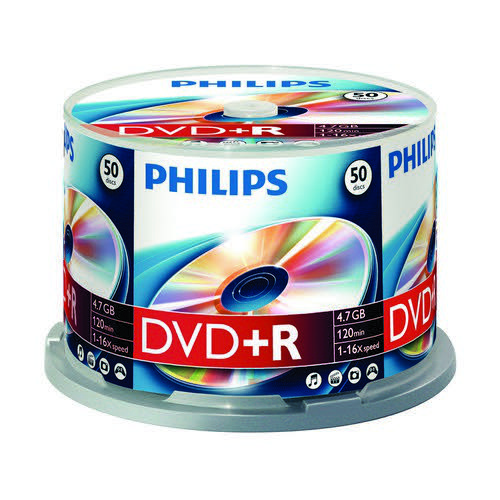 Philips DVD+R 4.7GB 16x Jewel Case 10 Disks