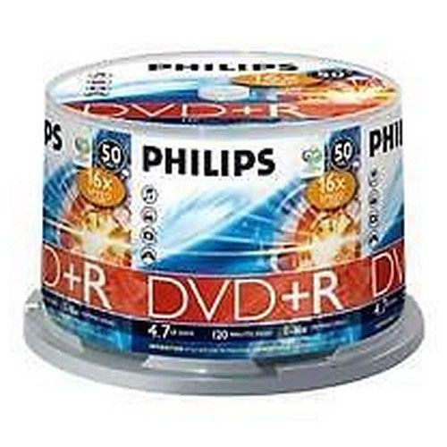 Philips DVD+R 4.7GB 16x Spindle 50 Disks