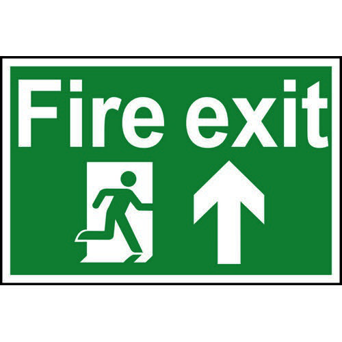Self-adhesive vinyl Fire Action Procedure sign (200 x 300mm). Easy to use  simply peel off the backi