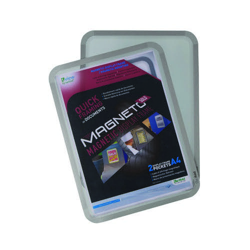 Tarifold Magneto A4 Magnetic Backed Pockets Silver Pack of 2