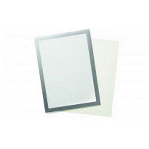 Durable Duraframe Grip A4 Hook and Loop Magnetic Display Frame Silver