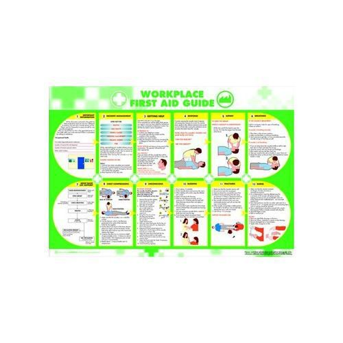 Workplace First Aid Poster 594x420mm Health & Safety Posters IB8388