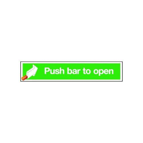 Push Bar To Open 75x600mm Self Adhesive