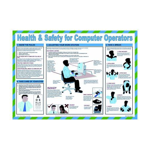 Health & Safety for Computer Operators 594 x 420mm