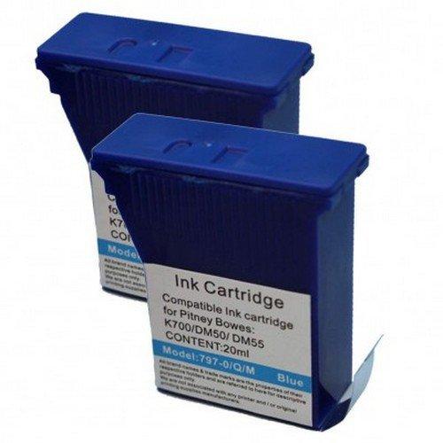Pitney Bowes DM50/55/K700 Compatible Blue Ink Franking Cartridge