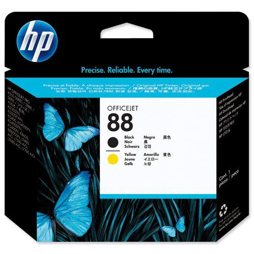 Hewlett Packard No.88 Printhead Black & Yellow C9381A Inkjet Cartridges IJ1540