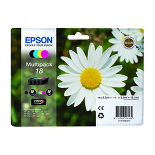 Epson T180640 18 Series Daisy Multi Pack Ink Carts Black/Cyan/Magenta/Yellow