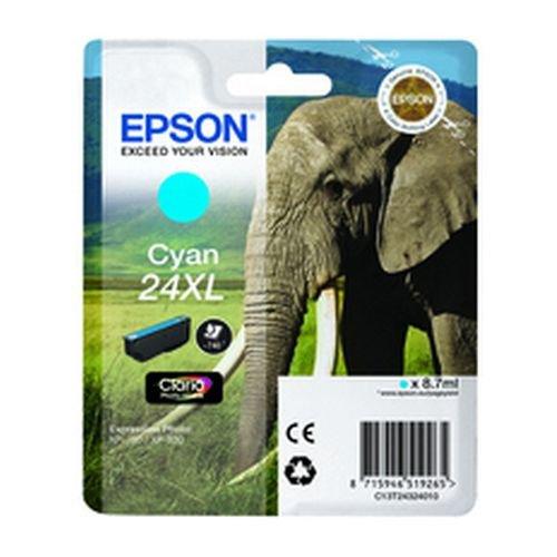 Epson T243240 24XL Series Elephant Cyan Ink Cartridge