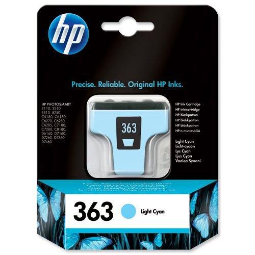 Hewlett Packard 363 Inkjet Cartridge Light Cyan C8774EE