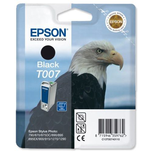 Epson Stylus Photo 870 T007 Ink Cartridge Black T007401