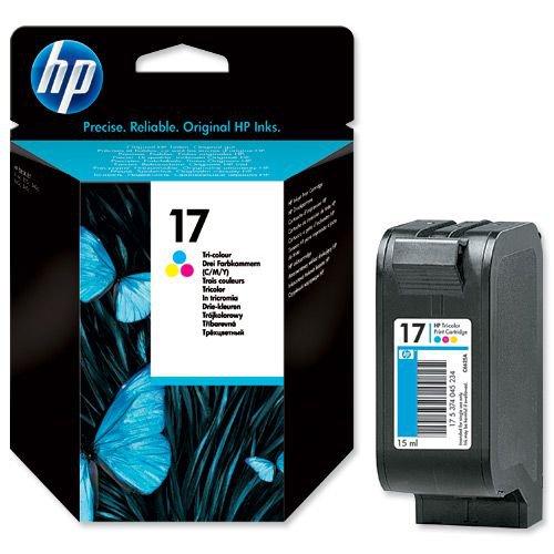 Hewlett Packard No.17 Print Cartridge 15ml Tri Colour C6625A