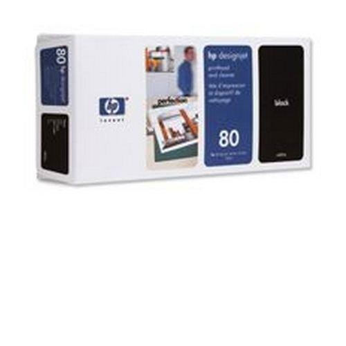 Hewlett Packard No.80 Printhead & Print Head Cleaner Black C4820A