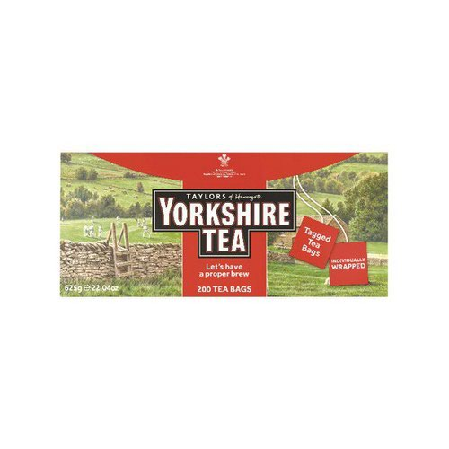 Yorkshire Tea Tagged and Enveloped Pack 200