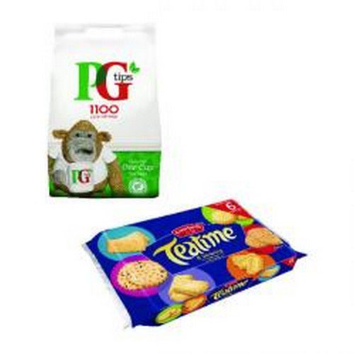PG Tips 1100 Env Bags Get Foc Biscuits