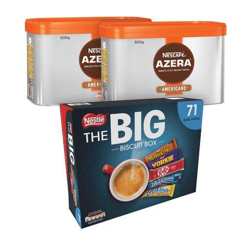 Nescafe Azera 500g 2pk Foc Biscuits
