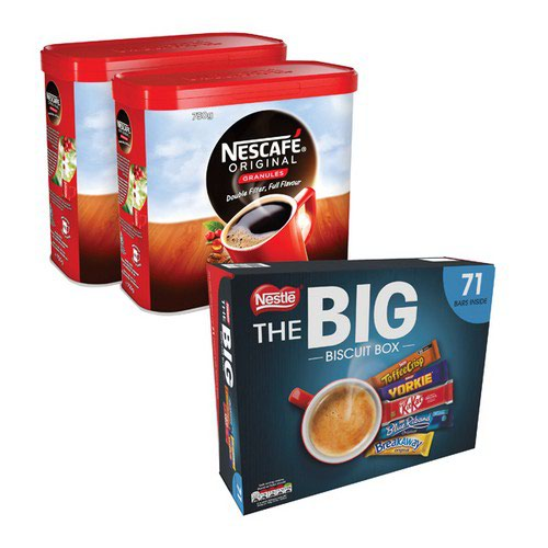 Nescafe Ins Coffee 750g 2pk Foc Biscuits