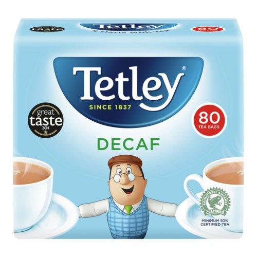 Tetley Decaffeinated Tea Bag (Pack of 80)