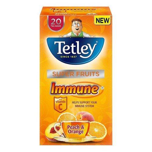 Tetley New Infusion Vitamin Ranges Immune Peach & Orange Pack 20
