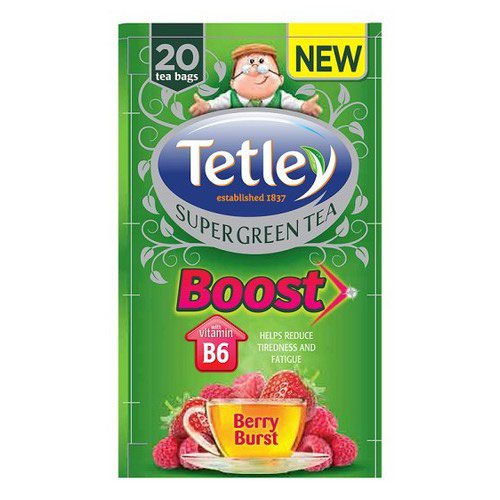 Tetley New Infusion Vitamin Ranges Boost Berry Burst Pack 20