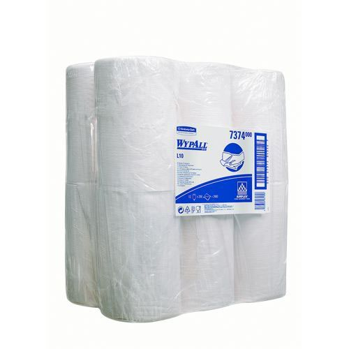 Wypall L10 Centrefeed Wiper Roll 250 Sheets of 206x380mm Pack 12