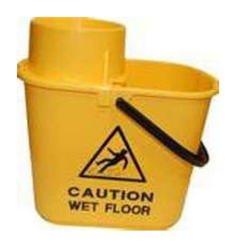 Charles Bentley Duo Mop Bucket Colour-Coded 7/8 Litre Sections Total 15 Litre Yellow