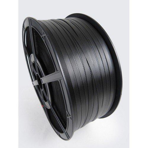 Polypropylene Hand Strapping Black 12.5mmx1000m 300Kg Break. Plastic Reels