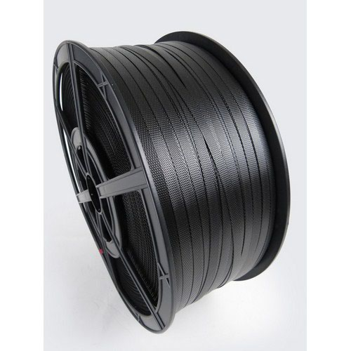 Polypropylene Hand Strapping Black 12mmx1500m 190Kg Break Plastic Reels