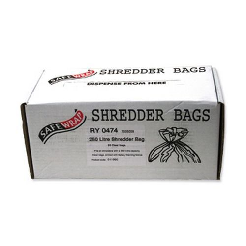 Safewrap 250 Litre Shredder Bag 590x1150x1200mm Box 50