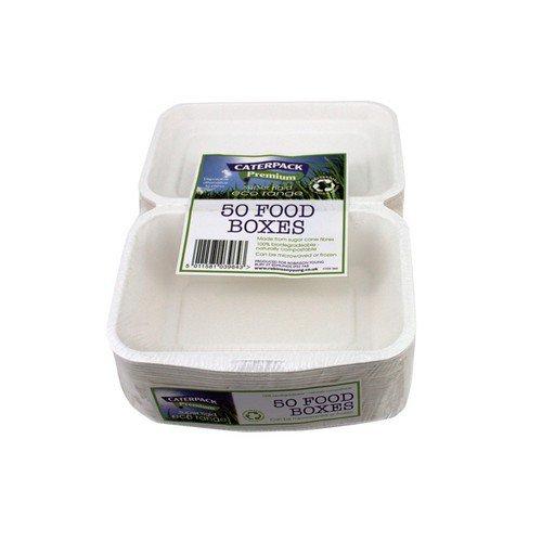 Caterpack Bio Super Rigid Food Box Pack 50