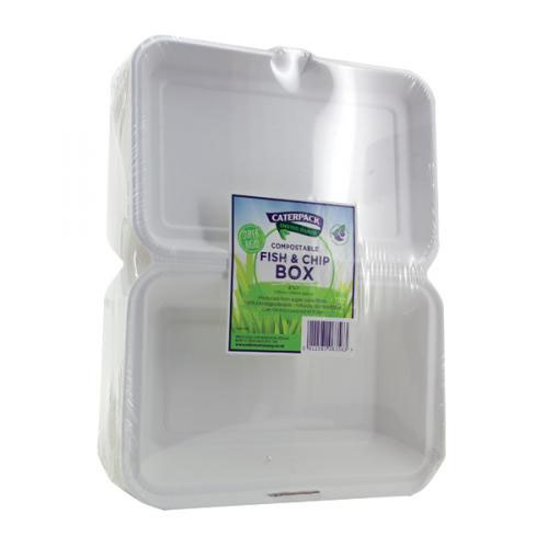 Caterpack Bio Fish Chip Container Pack 50