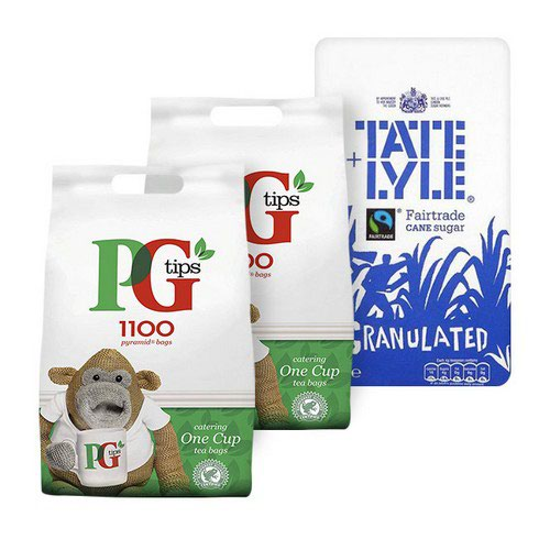 Buy 2 bags of PG Tips 1 Cup 1100 Tea Bags and get 1 bag of Tate&Lyle Granulated Sugar 2kg for free