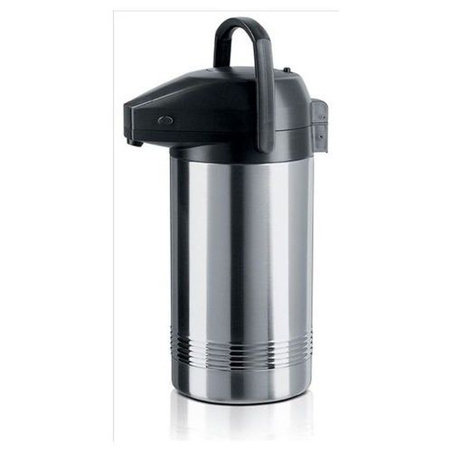 Pump Pots 3 Litres Vacuum Jug With Stainless Steel Interior Keeps Drinks Hot For Up To 6 Hours
