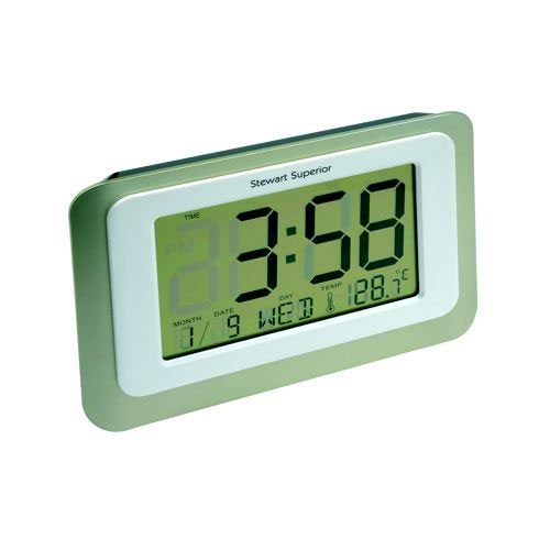 Digital Clock With Perpetual Calendar Date And Weekday Alarm 12/24 Hour Switch Thermometer