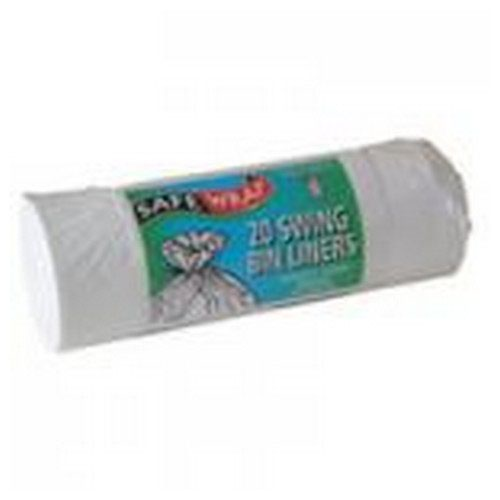 Safe Wrap Swing Bin Liners 20 Per Roll White 4 Packs Of 20