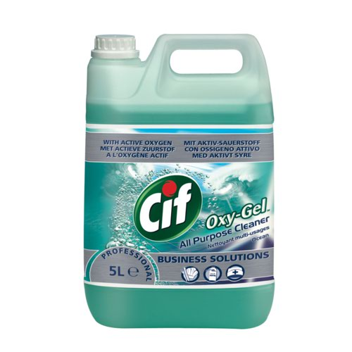 Cif Professional Oxygel All Purpose Cleaner Professional Active Oxygen Ocean 5 Litre