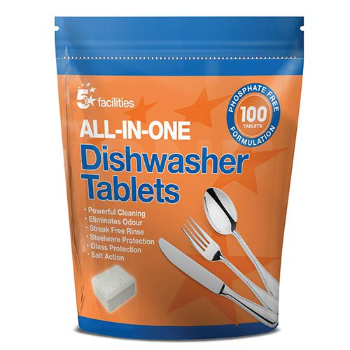 5 Star Dishwasher Tablets Pack 100