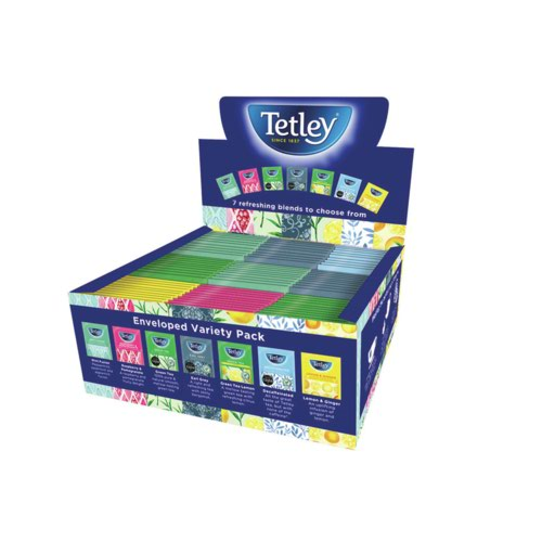 Tetley Envelopes Variety Box - 9 bags 7 flavours