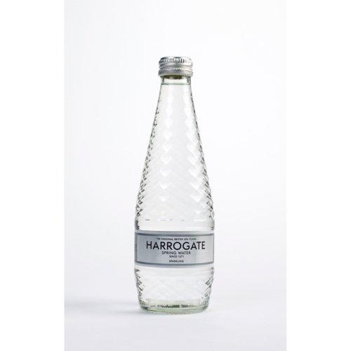 Harrogate Sparkling Water Glass Bottle 330ml Pack 24