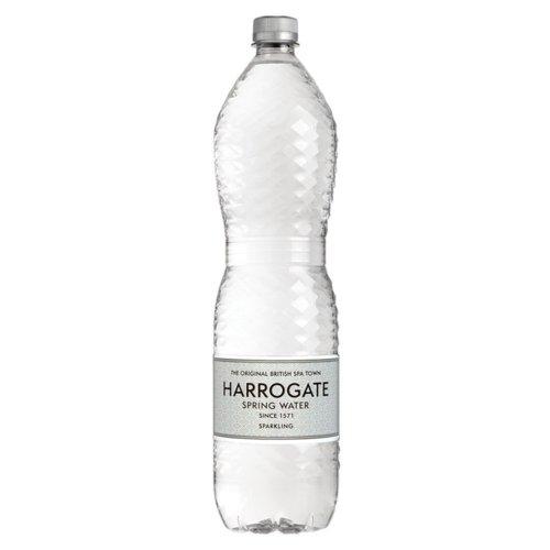 Harrogate Sparkling Water Plastic Bottle 1.5 litres Pack 12