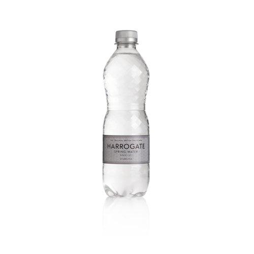 Harrogate Sparkling Water Plastic Bottle 500ml Pack 24