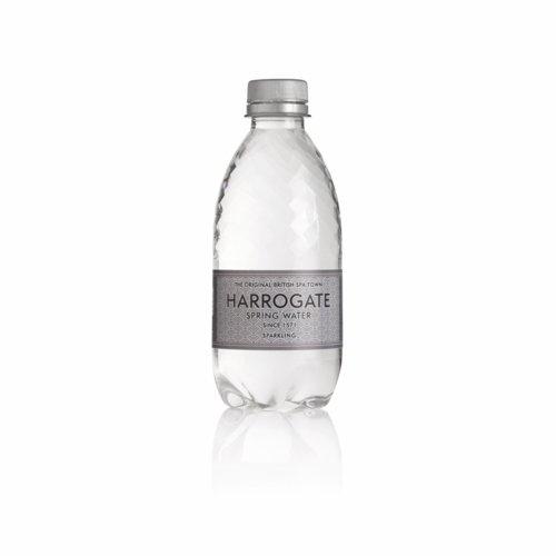 Harrogate Sparkling Water Plastic Bottle 330ml Pack 30