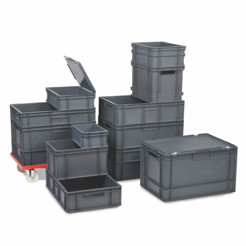 5 Ltr Euro Container Grey Ext.L300xW200xH120mm/Int.L260xW160xH110mm Pack 10
