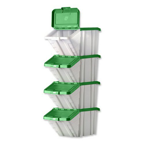 Multi-Functional Containers Green Lids Pack 4