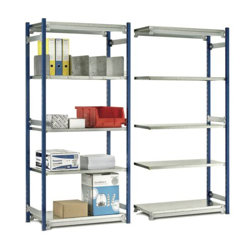 Toprax O/A H2000xW942xD328mm Single Sided Starter c/w 5 Shelves W870xD290mm