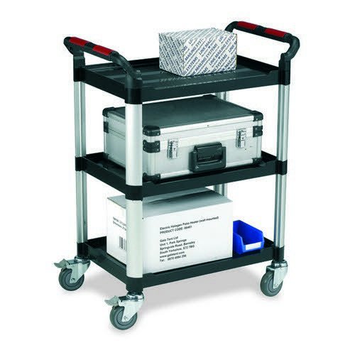 Plastic Tray Trolley Large 3 Shelves