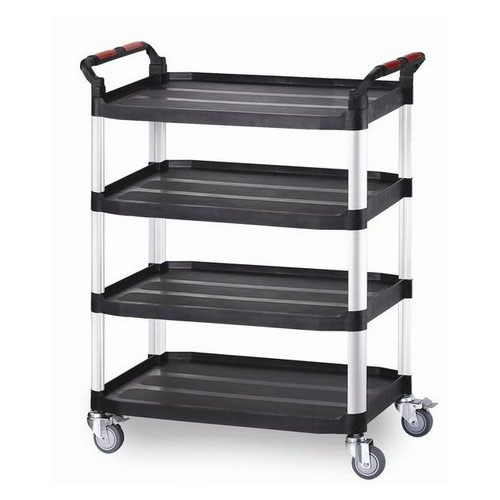 Plastic Tray Trolley Large 4 Shelves