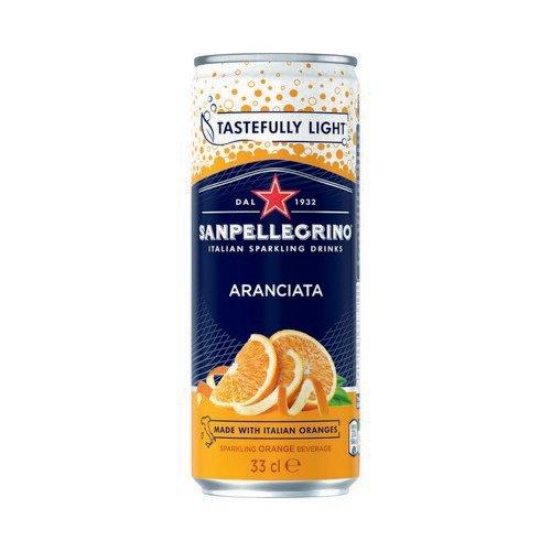 San Pellegrino Sparkling Blood Orange 330ml Can Pack 24