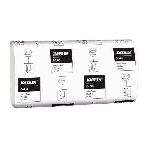 Katrin Basic Zig Zag White Hand Towels Pack 5000