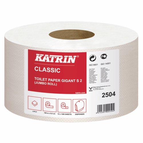 Katrin Mini Jumbo 2Ply Toilet Roll Pack 12