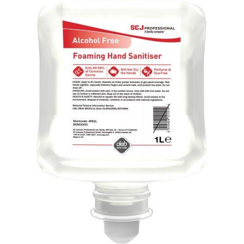 Deb Instantfoam Complete Alcohol Free Pure Hand Sanitiser 1L Cartridge